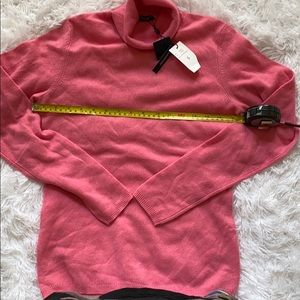 NWT CASHMERE SWEATER MAGASCHONI PINK TURTLENECK